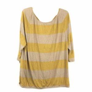 Ann Taylor LOFT Striped 3/4 Sleeve Blouse Top